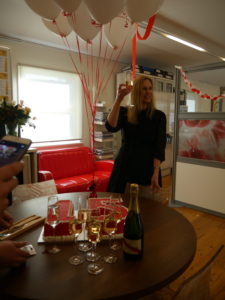 Principal, Kirsten Bruce raises a toast to 15 years of VIVA! Communications