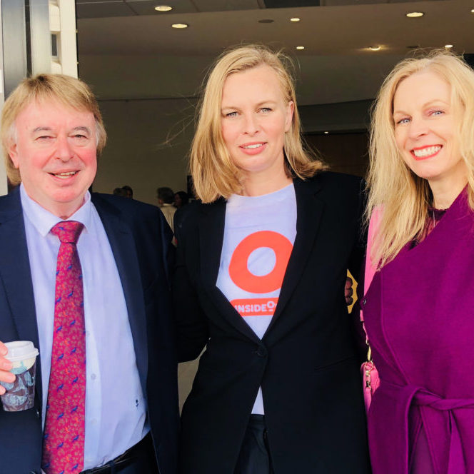 l-r: Prof Stephen Touyz, Advisory Council Chair & Lead Researcher, InsideOut Institute, Dr Sarah Maguire, Director & Clinical Psychologist, InsideOut Institute, Kirsten Bruce, VIVA! Communications Principal & Advisory Council member, InsideOut Institute.