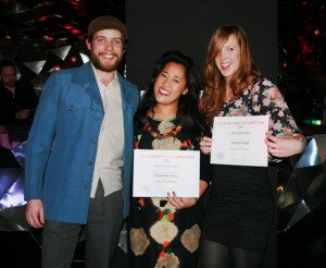 Live & Love winner Roshelle Fong (middle) and actors David Adlam and Rose Purse