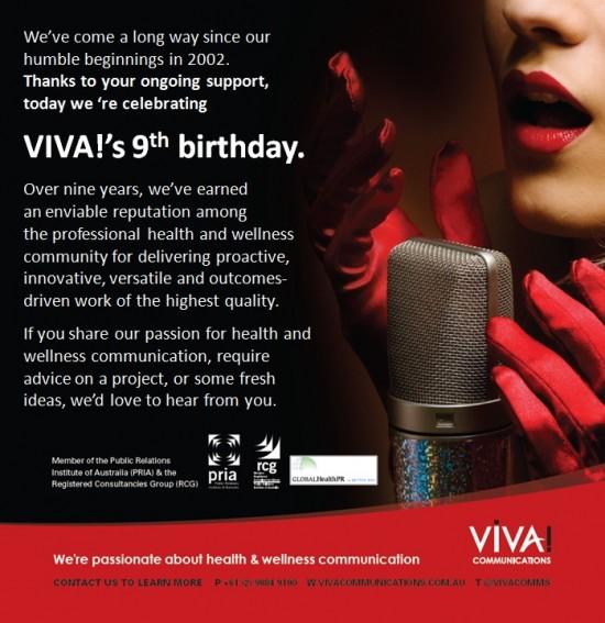 Happy 9th birthday VIVA!