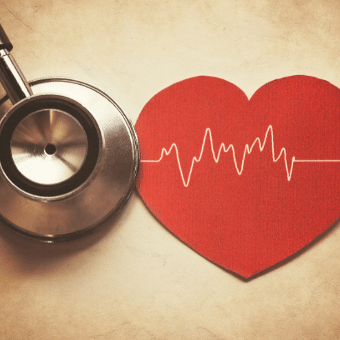 Stethoscope and love heart